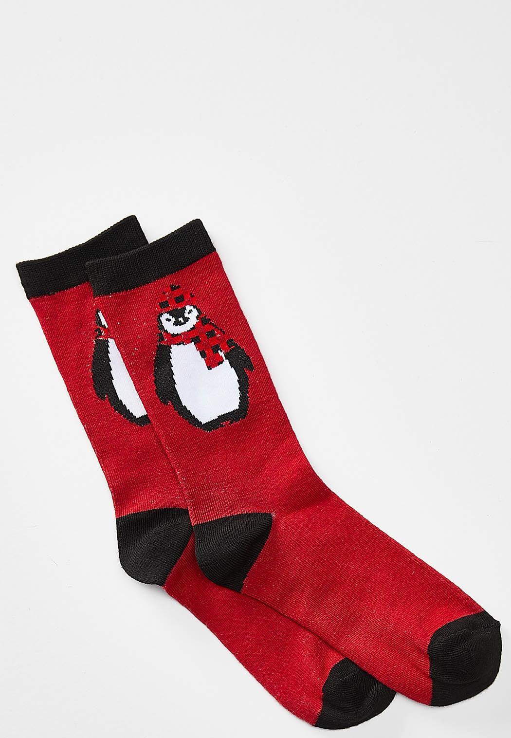 Festive Penguin Socks