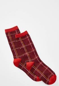 Festive Plaid Socks