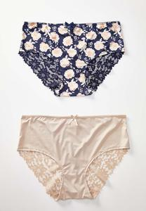 Plus Size Lace Panty Set