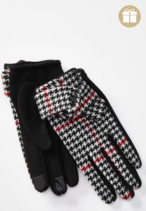 Houndstooth Tech Touch Gloves