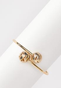 Gold Ball Cuff Bracelet