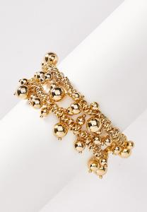 Gold Cluster Stretch Bracelet Set
