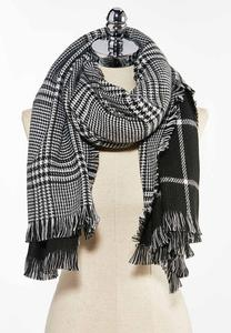 Black White Cold Weather Scarf