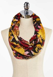 Autumn Bloom Infinity Scarf