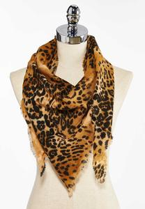 Animal Print Triangle Scarve