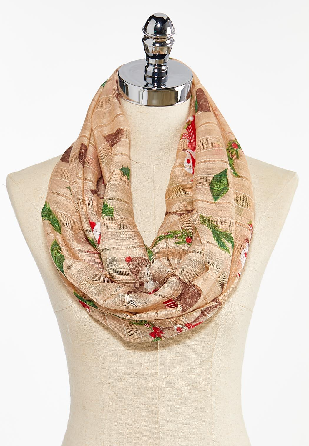 Christmas Critters Infinity Scarf
