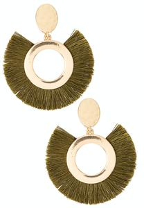 Fringed Metal Clip-On Earrings