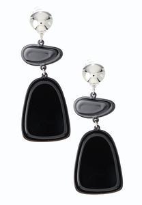 Lucite Geo Clip-On Earrings