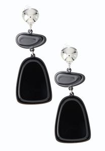 Lucite Geo Clip-On Earrings