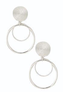 Swirl Hoop Clip-On Earrings