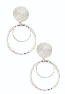 Swirl Hoop Clip-On Earrings