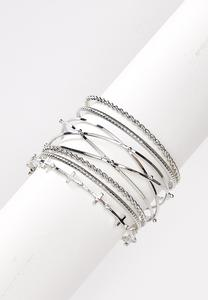 XL Cross Bangle Bracelet Set
