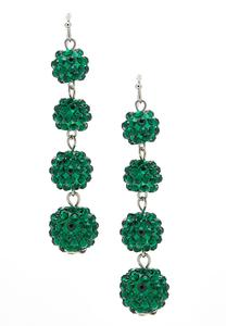Beaded Ball Dangle Earrings