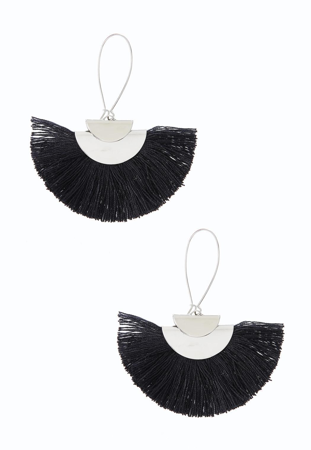 Tasseled Fan Earrings