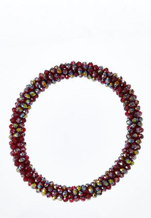 Merlot Bead Stretch Bracelet