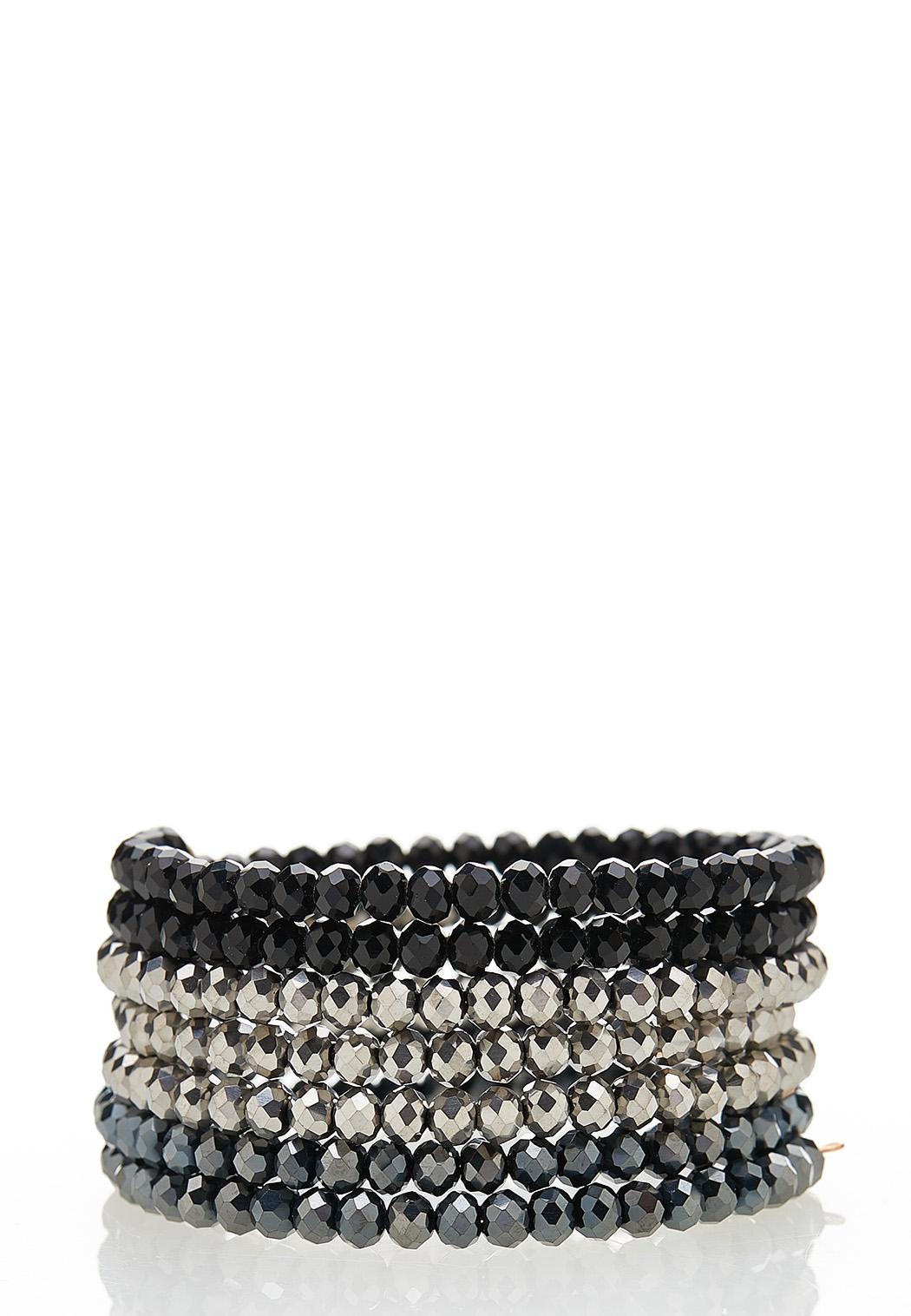 Tri-Toned Coil Bracelet