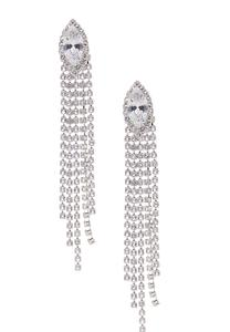 Marquis Stone Fringe Earrings