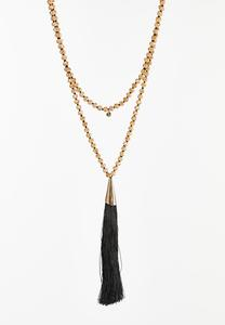 Long Layered Tassel Necklace