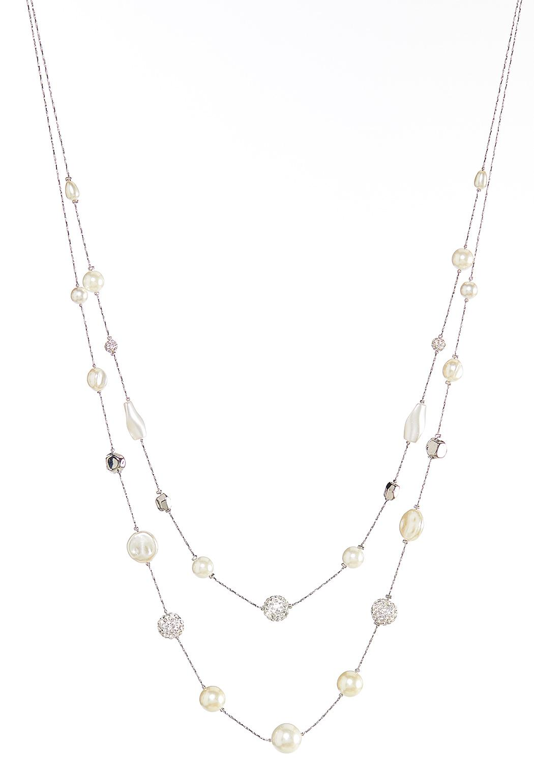 Delicate Layered Pearl Necklace
