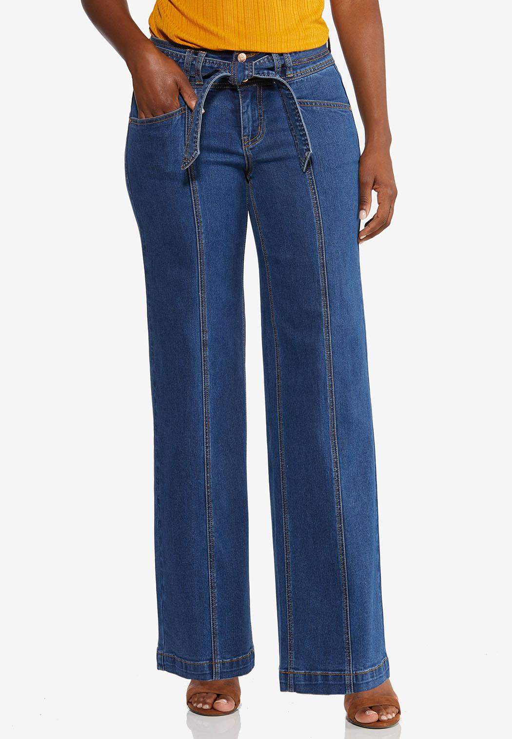 Tie Front Flare Jeans