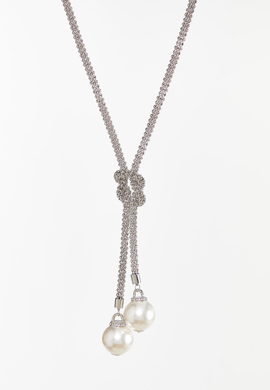 Knotted Pearl Lariat