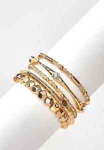 Gold Beauty Bracelet Set