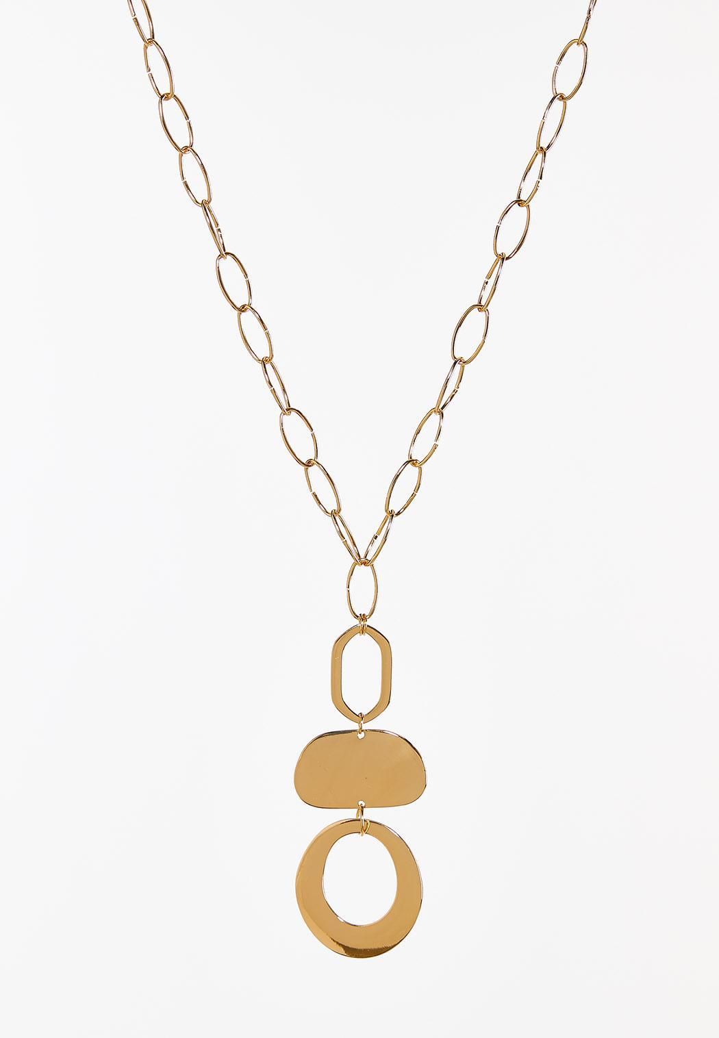 Tiered Geo Pendant Necklace