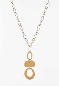 Tiered Geo Pendant Necklace