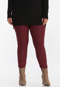 Plus Size Faux Suede Leggings