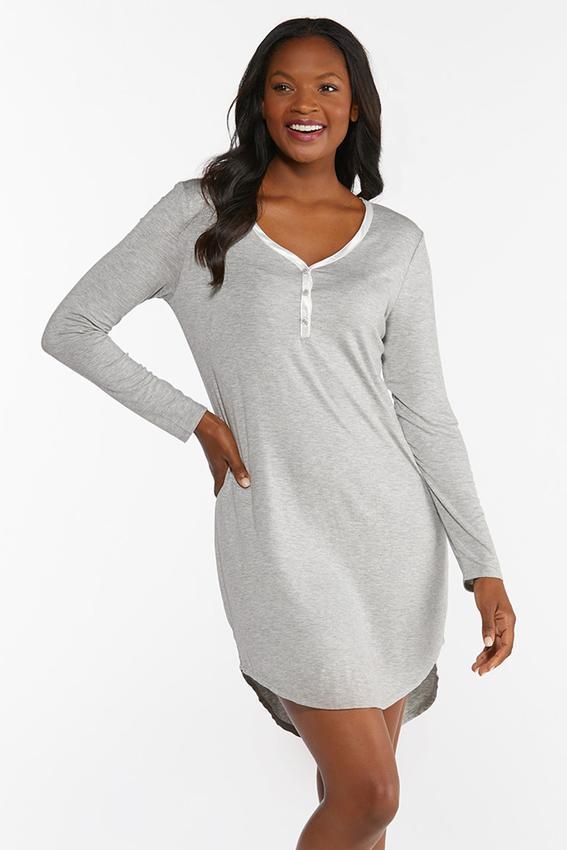 Satin Trim Sleep Shirt
