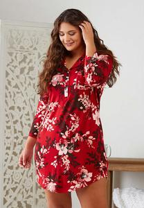 Red Floral Sleep Shirt