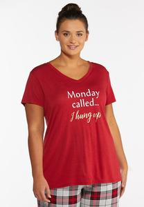 Plus Size Monday Called Sleep Tee