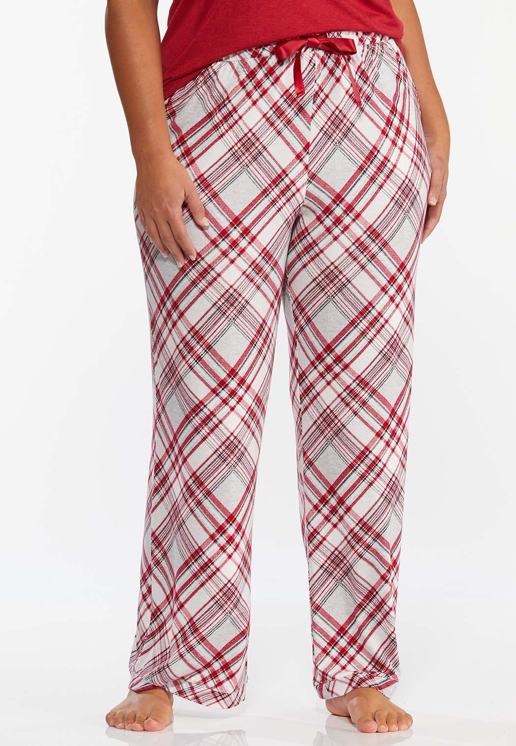 Plus Size Meteor Plaid Sleep Pants