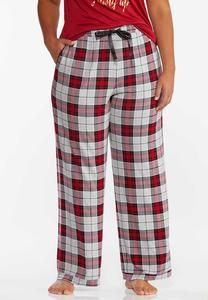 Plus Size Mountain Plaid Sleep Pants