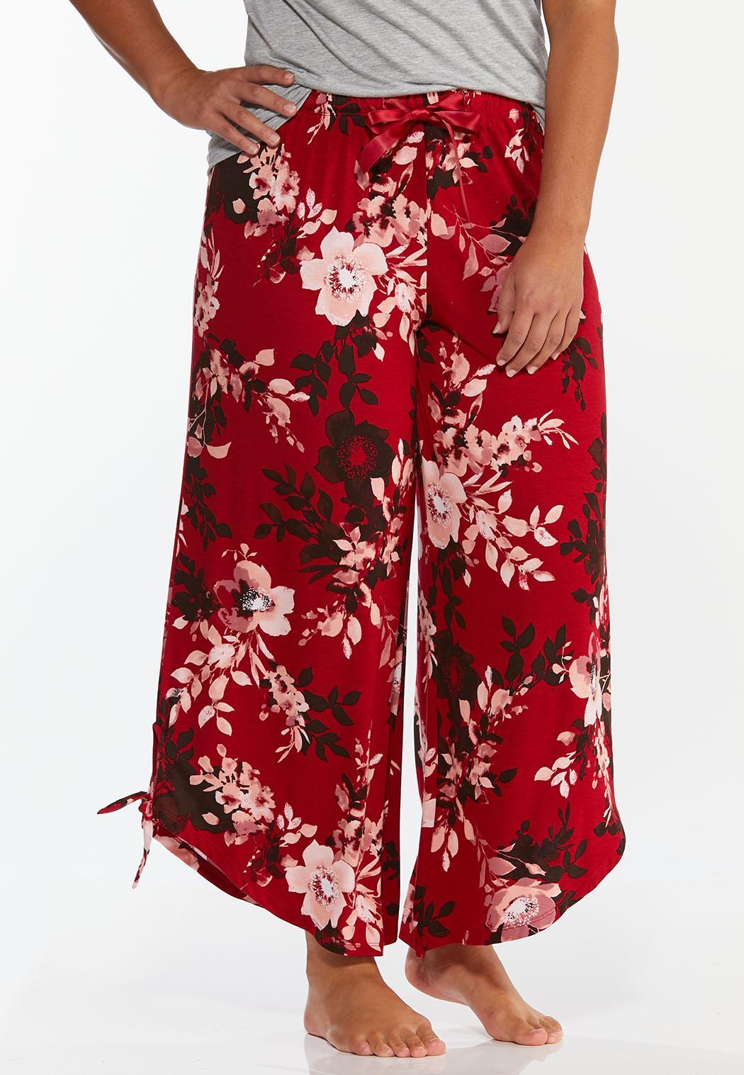 Plus Size Floral Sleep Pants