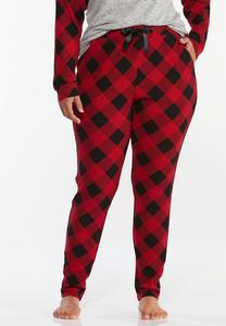 Plus Size Buffalo Plaid Sleep Pants