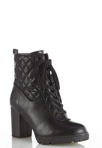 Quilted Lace Up Boots