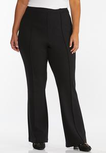 Plus Size Pintuck Flare Leg Pants