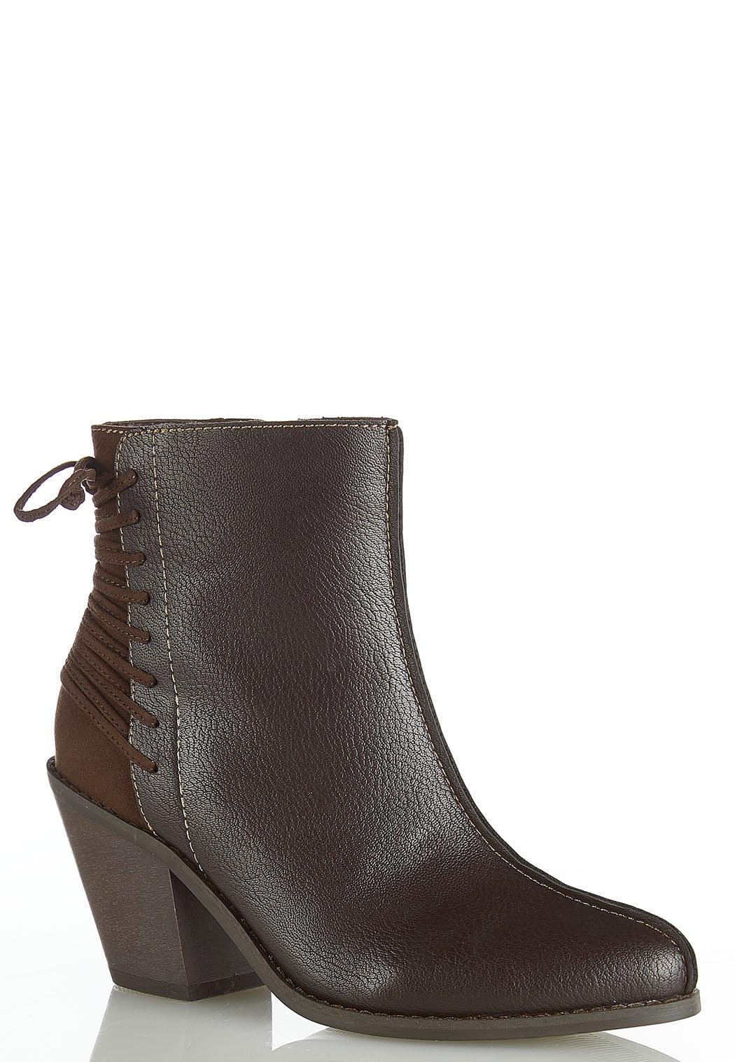 Wide Width Back Lace Up Boots