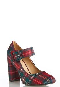 Plaid Mary Jane Pumps