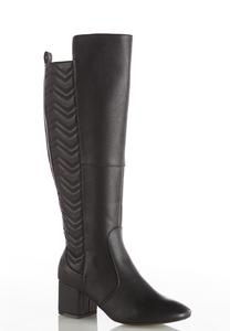 Wide Width Quilted Tall Boots