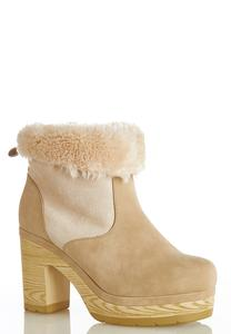 Fur Cuff Boot Clogs
