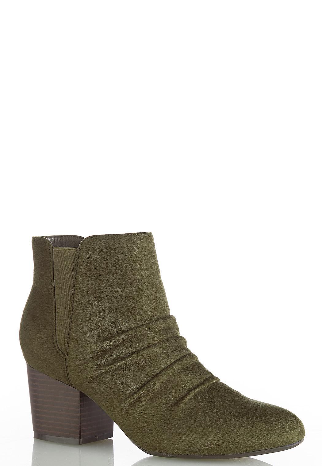 Scrunchie Ankle Boots