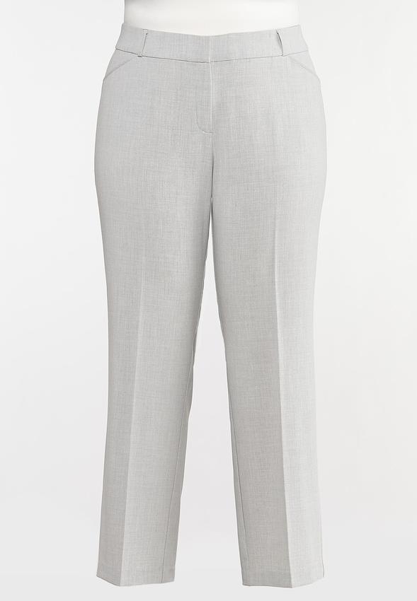 Plus Petite Gray Trouser Pants