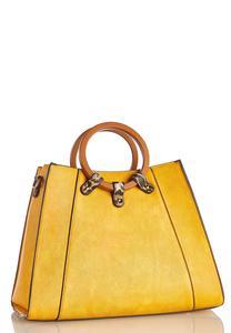 Leopard Trim Handbag