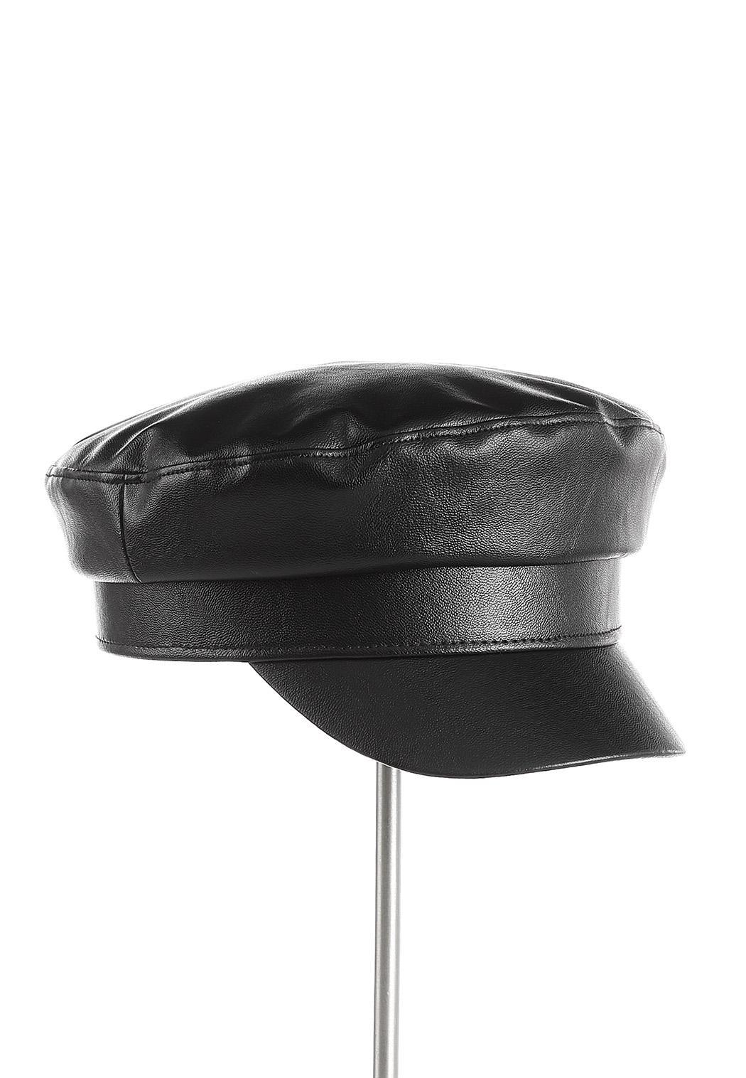 Faux Leather Cabbie Hat