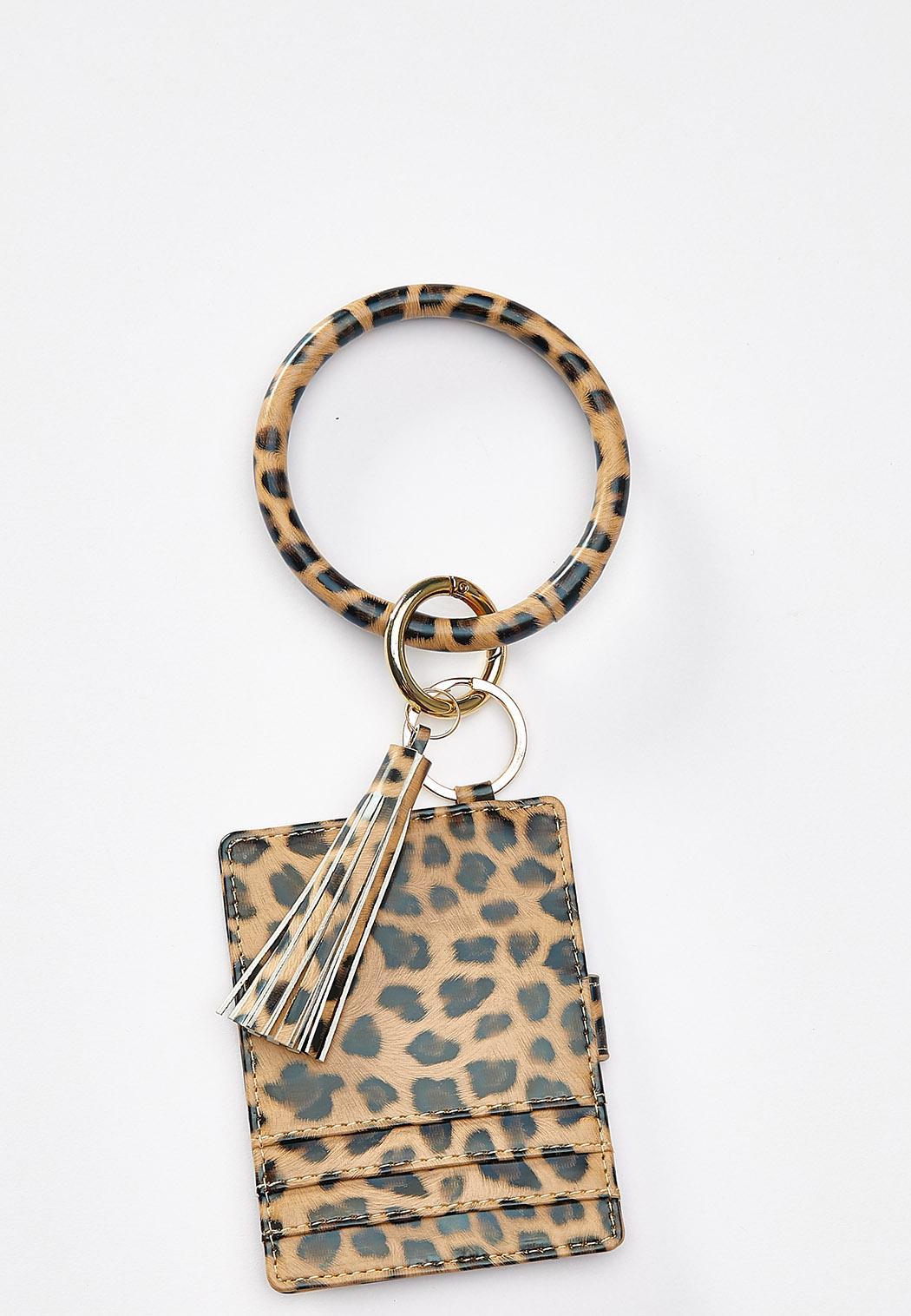 Cheetah Wallet Keychain
