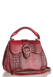 Red Croco Satchel