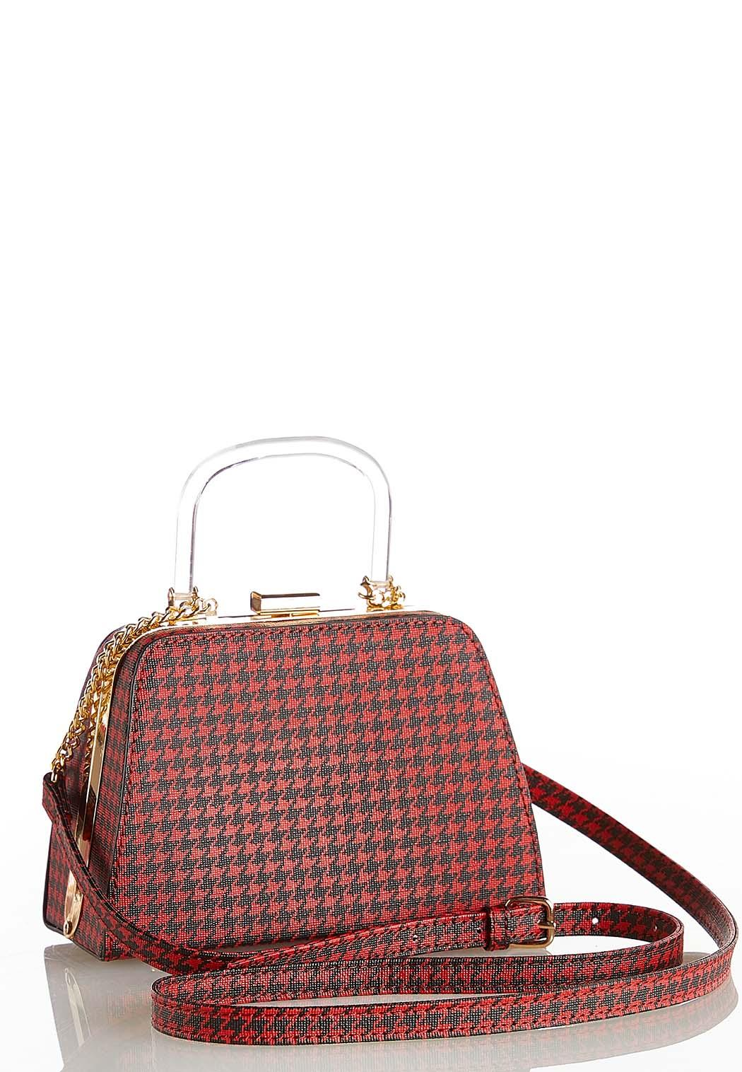 Mini Houndstooth Crossbody Bag