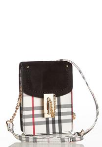 Plaid Cell Phone Crossbody Bag